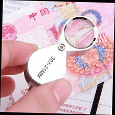 30X Glass Magnifying Magnifier Jeweler Eye Jewelry Loupe Loop GUXD