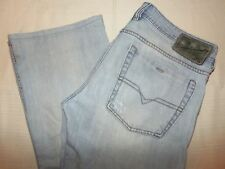 DIESEL ZATHAN Jeans 32 X 29 Button Fly Destroyed 008KJ Light Blue Made in Italy