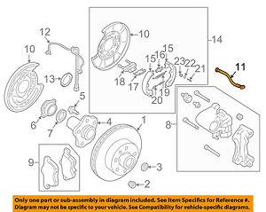 NISSAN OEM Rear Brake-Hydraulic Flex Hose 46211AL51A