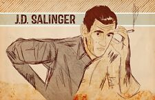 J.D. Salinger Poster Limited Edition 13 x 19 In. - Author - Catcher in the Rye