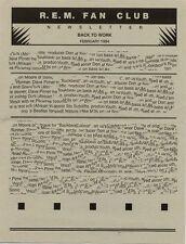 R.E.M. Fanclub Newsletter February 1994