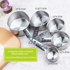 5pcs Stainless Steel& Measuring Spoons Cups Kitchen Utensil Baking Cooking Tool