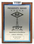 "Vintage Antique Wooden Plaque & Sign ""RIG Ocean President's Award"" Home Decor"