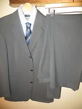 TWO 2 LOT Mens Hugo Boss Grey Wool Suits Blazer Sports Coat 42 Reg Pants 38 X 30