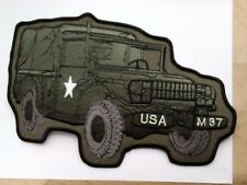 M37 Dodge m37 patch jumbo 10 ins.  Korean, & Vietnam war's troop Ammo Carrier3/4