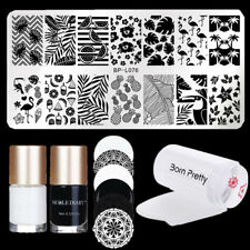 5Pcs/Set Born Pretty  Nail Art Stamping Plates Polish Stamper & Scraper