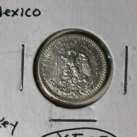 1930 Mexico 20 Centavos Silver Coin XF Condition