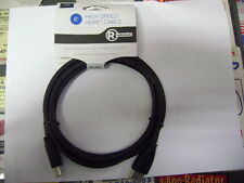 2x RadioShack 150078 6-Ft. High Speed and High Quality HDMI Cable 3D 4K ULTRA HD