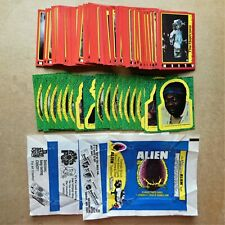 Complete set 1979 Alien movie photo cards, 19 stickers, 4 wrappers Topps