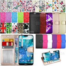 For Nokia 7.1 Case Protective Eco Leather Phone Wallet Cover Flip Book + Stylus