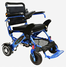 The Geo Cruiser DX Lightweight Foldable Power Chair (Blue) with FREE ACCESSORIES