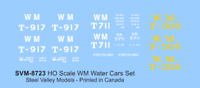 SVM-6023 N Scale WESTERN MARYLAND =WM= MoW Water Cars - Single Set