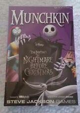 Munchkin Nightmare Before Christmas Card Party Game Jack Skellington Tim Burton