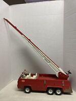 Vintage 1970s Tonka Pressed Steel Working Aerial Swivel Ladder Fire Truck