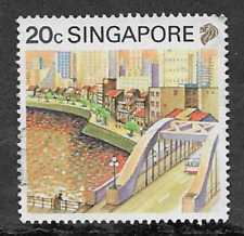 SINGAPORE POSTAL ISSUE - 1990 - USED COMMEMORATIVE STAMP - TOURISM - RIVER