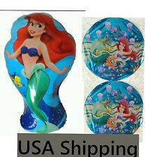 3 Piece Ariel The little Mermaid Balloons for Birthday Party or Theme !!