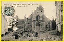 cpa 91 - LONGJUMEAU (Essonne) L'EGLISE St MARTIN Animés Pompe Puit Fontaine