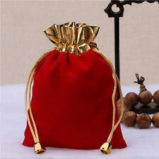 Wrapping Pack 12Pcs Drawstring Pouch Jewellery Bag Wedding Favor Red Velvet