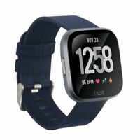 For Fitbit Versa 2 1 Lite Canvas Fabric Band Replacement Watch Strap Navy Blue