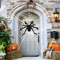"""59"""" Inches Halloween Mega Spider Web Outdoor Yard Party Graveyard Decorations"""