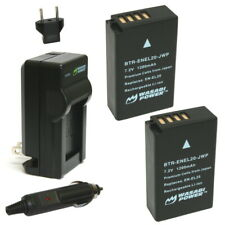 Wasabi Power Battery (2-Pack) and Charger for Nikon EN-EL20, EN-EL20a