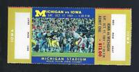 1981 NCAA IOWA HAWKEYES @ MICHIGAN WOLVERINES FULL UNUSED FOOTBALL TICKET