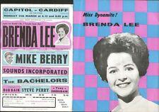 BRENDA LEE & MIKE BERRY (1963 PROGRAMME & HANDBILL)
