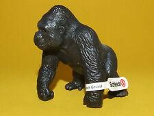 08) Schleich Schleichtier Affe Gorilla Männchen 14196 unbespielt