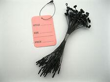 """100    Pink  Extra Large   Price Tags   1.75""""   X   2.75"""" + 100  Black  Loop"""