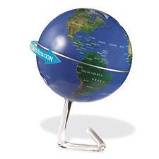 Deko Globus drehend Weltkugel geographisch mit Batteriebetrieb + Designständer