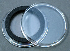 25 Air-Tite 24mm Black Ring Coin Holder Capsules for Quarters