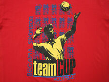 Great Logo! vintage Volleyball spike red T Shirt begama Sport large