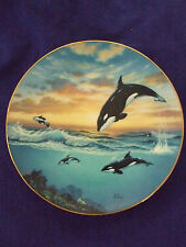 "Vintage 1991 Anthony Casay""Jumping For Joy""Endangered Whales Collectable Plate"