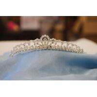 """Beautiful Bridal Wedding Party Tiara Crystal Crown w/ Leaf Size: 6""""x0.75""""H"""