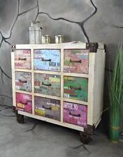 Kommode Sideboard 9 Schubladen Vintage Industrie Look LOFT Shabby LV2073