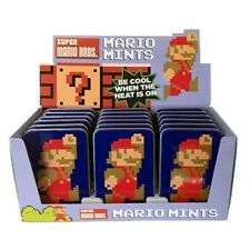 Nintendo Super Mario Brothers 8-Bit Mints In Embossed Metal Tin Box of 18 SEALED