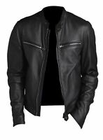 Noora Men's Motorcycle Leather Jacket Lambskin Biker Highyway Jacket Slim NI-40
