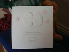 Personalised Handmade New Baby Card - Girl - Shoes