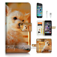 ( For iPhone 7 ) Wallet Case Cover P3315 Cute Puppy Dog