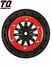 Pro-Line 2746-03 F-11 2.2 Inch /3.0 Inch Red/Black Bead-Loc Wheels (2)