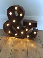 Ampersand Light Up Marquee Sign Wedding Rustic Vintage Style Home Décor