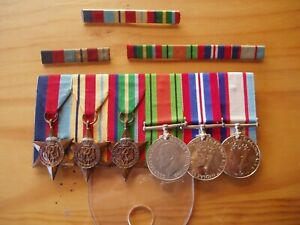 Original WW2 Australian Army Medal Set Plus Bars