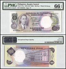 Philippines 100 Piso, 1949 (ND 1969), P-147a, UNC, M. Roxas, PMG 66 EPQ
