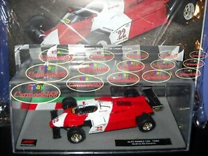 1/43 Alfa Romeo 182 Andrea De Cesaris 22 1982 + 190 Formula 1 Auto Collection F1