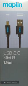 Maplin USB 2.0 A to Mini B 1.5m - New in Box