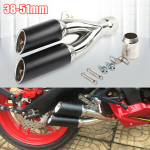 38-51mm ATV Bike Motorcycle Exhaust Muffler Pipe Replace With Removable Silencer