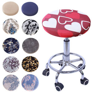 Round Chair Cover Bar Stool Cover Elastic Seat Cover Home Chair Slipcover CA