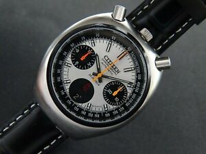 VTGE CITIZEN BULLHEAD 8110 PANDA CHRONOGRAPH. MINT. FULLY ORIGINAL 70s. SERVICED