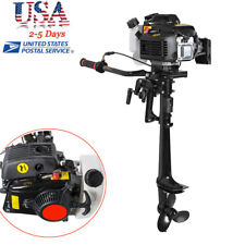 【USA】 4 Stroke 3.6 HP Outboard Motor 55CC Boat Engine With Air Cooling System