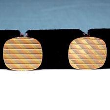 Unoaerre Solid 18K Tri Tone Gold Link Type Cufflinks